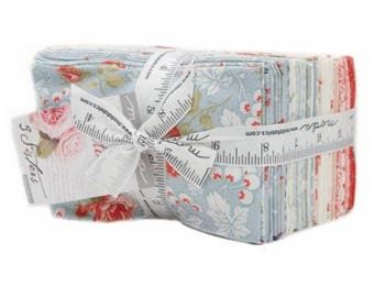 Ships Today! 3 Sisters VICTORIA For Moda Fabric Fat 8's Eights Eighths , 34 f 8's