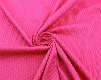 Hot Pink Jacquard Knit Fabric - 1 Yard Style 6302