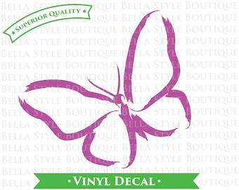 Papillon aquarelle vinyle autocollant