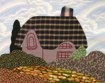 English Cottage Appliqued Quilt Block