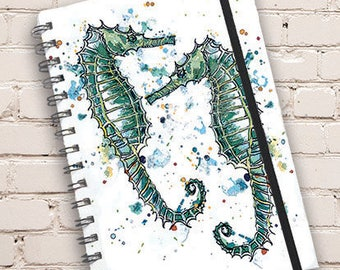 A5 Seahorse Print Hardback Spiral Bound Notebook