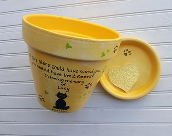 Dog Sympathy Gift - Cat Sympathy Gift - Pet Memorial Gift - Painted Flower Pot - Large Planter - Animal Sympathy
