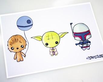 Mini Force Meme - 5x7 Art Print - silly cute kawaii - ReLove Plan.et
