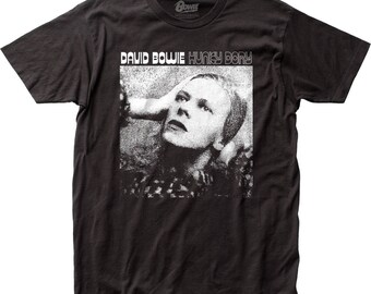 David Bowie hunky dory soft fitted 30/1 jersey tee - DB32(Black)