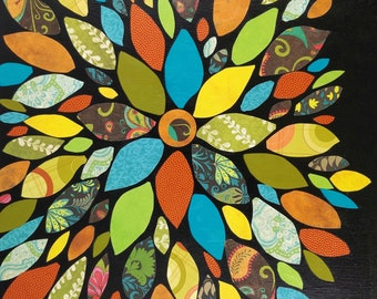 Paper Flower Petal Canvas