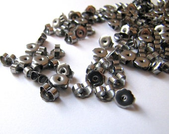 Nickel Free 50 pcs Surgical Steel Earring Backs, Clutches, Ear Nuts, Hypoallergenic