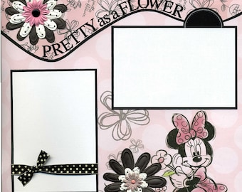 Pretty as a Flower - Premade Scrapbook Page