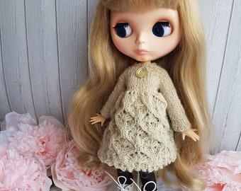 Blythe dress Dress  for Blythe doll  Blythe outfit Knitted dress for Blythe by NikiDollsToys