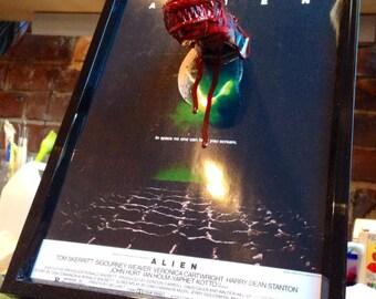 3D Alien Chest Burster Poster