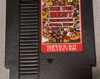 SALE*** Best Nintendo NES Games Collection Cart. 143 Games Total !!! FREE Shipping