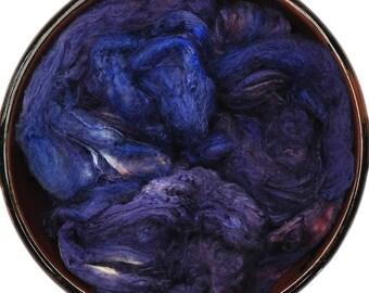 Hand painted Silk Hankies Mawata - Silk spinning / knitting / felting fiber, 16 g - Jamsaxa