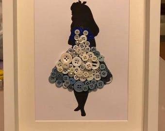 Alice in Wonderland Button Frame
