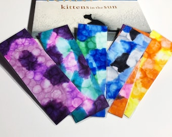 Watercolor Bookmarks , Mosaic Bookmarks ,  Multicolored Bookmarks