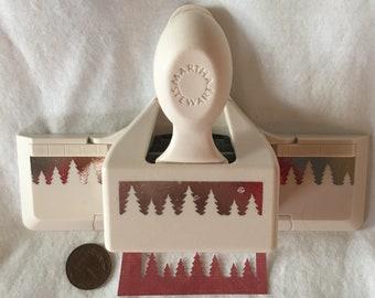 Martha Stewart PINE FOREST Trees Winter Border Edge Paper Punch Scrabooking Card Craft