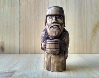 """Wooden sculpture  - """"Kuzmich"""""""