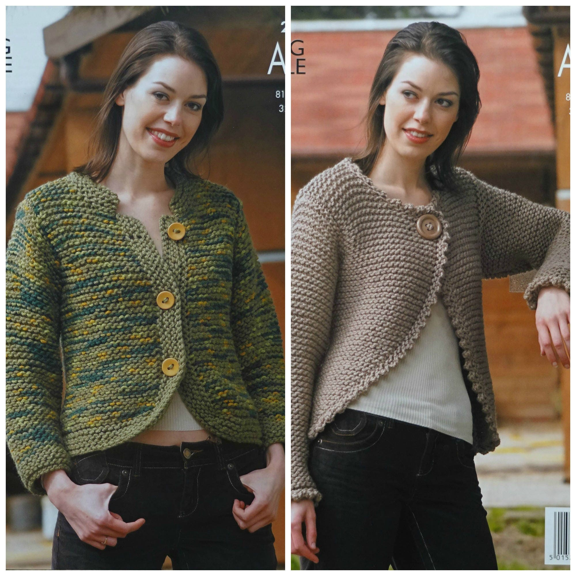 Womens Knitting Pattern K2957 Ladies Easy Knit Jacket and Long ...