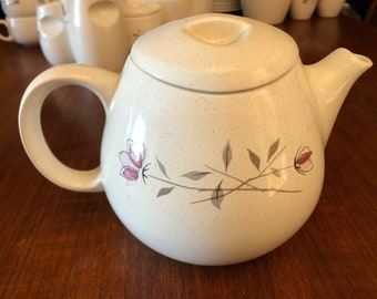 Vintage 1950s Franciscan Duet Rose Teapot with Lid