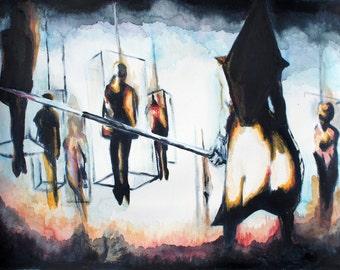 "Art Print - Silent Hill, Pyramid Head 11"" x 14"""