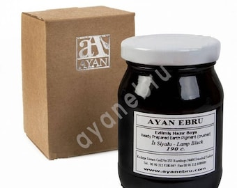 Ebru Marbling Paint Colors-Pigment Lamp Black (Ayan)