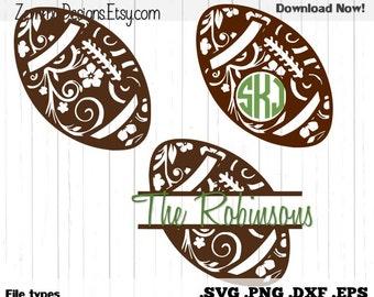Football flourish bundle .DXF .SVG, .PNG- commercial use, football girl svg, football svg, Football sister svg, football svg for her