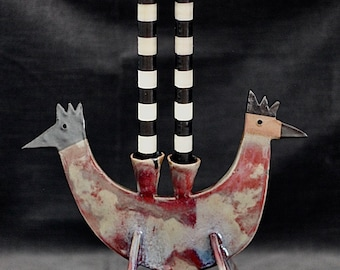 Two-Headed Chicken Candle Holder