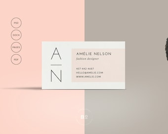 INSTANT DOWNLOAD Hello DIY Printable Business Card - Printable business card template