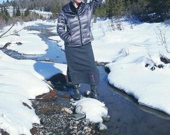 The Powder Daisy Polar Fleece Skirt Long