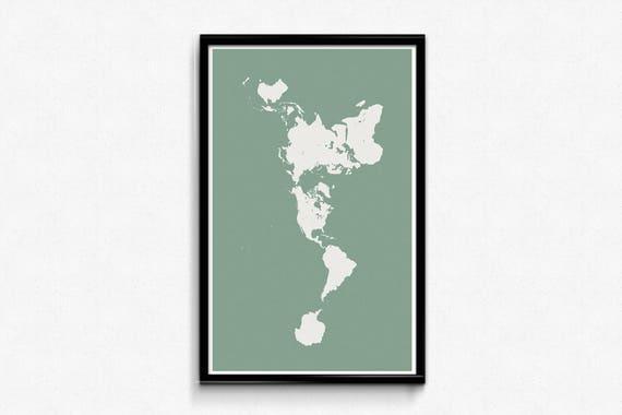 Buckminster fuller dymaxion map poster world map wall art gumiabroncs Images
