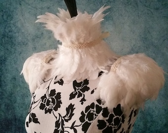 Ivory ice queen set,  feather set