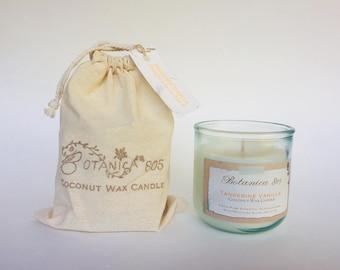 Tangerine Vanilla Coconut Wax Candle | 10 oz Recycled Spanish Glass