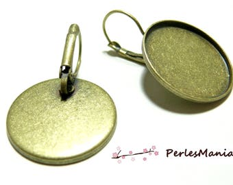 20 blank earring 14mm Bronze scrapbooking quality