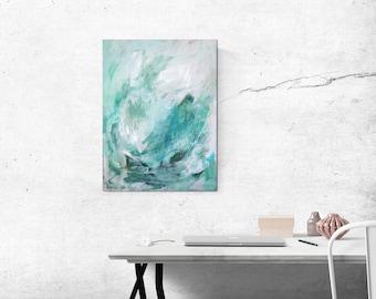 "Abstract Painting / Contemporary Art / Original Artwork. ""Diamond Eyes"" Acrylic on Canvas 18x24"""