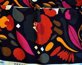 """Marimekko Hattarakukka lino pedazo de tela de 13 """"x 51""""; 34 x 130 cm"""