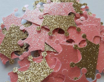 Royal Princess Baby Shower, Pink and Gold Crown, Princess Crown Confetti, Royal Crown, Princess Crown, Baby Crown, Princess Party