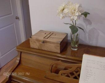 Bible Box, wedding box, Fine woodworking, new baby keepsake box, memory box, keepsake box, jewelry box, Maple