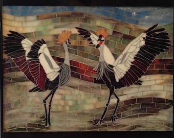 Wild Love: African Cranes Tile