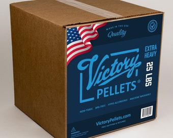 Victory Pellets Extra Heavy (25 Pounds) Plastic Poly Pellets for Weighted Blankets, Corn Hole Bags, Dolls, Bears and Crafts