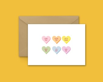 Candy Conversation love Greeting Card