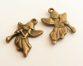 Antique Brass Angel Charm 21x18mm (3 pcs) Z-N1098-AB