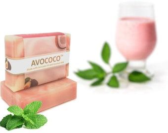 Peppermint Soap, Natural Coconut Milk Soap, Handmade Soap, Peppermint, Vegan Soap, Aromatherapy Soap, Coconut Milk Soap, Essential Oil S