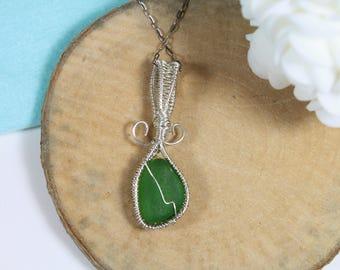 Sea Glass Necklace - Sea Glass Jewelry - Mermaid Necklace - Beach Glass necklace - dainty necklace - jewelry - mermaid jewelry - Pendant