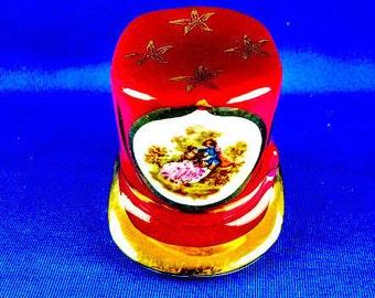 Limoges France Porcelain Top Hat