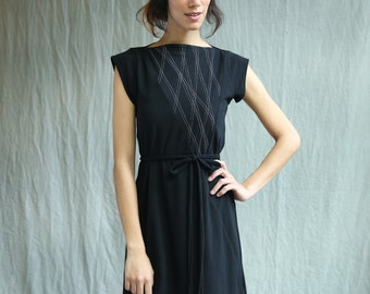 Triangle Dress, Aline, Cotton Jersey, Geometric, Modern style- made to order, one of a kind