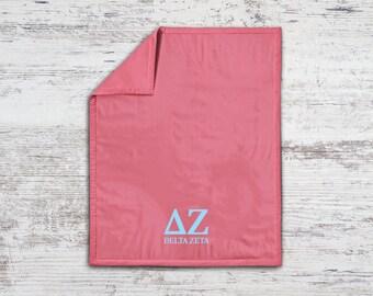 DZ Delta Zeta Classic Sweatshirt Blanket Throw Greek Licensed Sorority Gift
