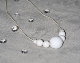 """Necklace Pearl White """"snow"""""""