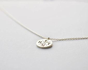 Circle Family Necklace - Gold Initial Jewelry - Personalized Letter Necklace - Family Necklace - Bridesmaid Gift - Valentine's Days Gift