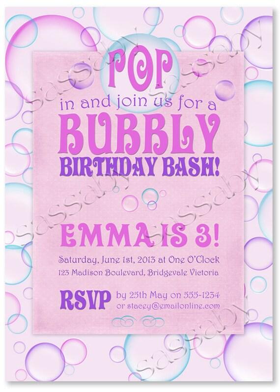 Bubble invitations birthday gallery coloring pages adult bubble birthday party invitations trackpower bubbles invitation instant download editable printable filmwisefo