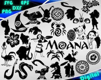 Moana svg Clipart Moana part 1 Moana silhouette stencil file cricut vector cut file cutting file vector files