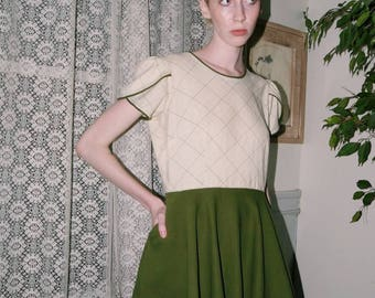 1970s Fit and Flare Dress