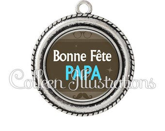Pendant cabochons 25mm father's day - series 4